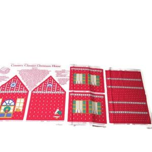 Other - Sewing Panel Christmas House Country Classic Cut S
